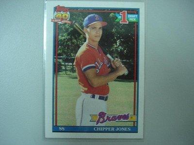 Chipper Jones 1991 Topps RC 新人卡 #333