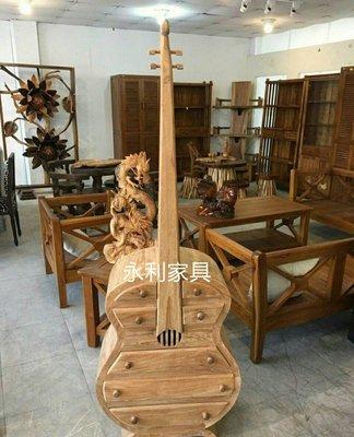 柚木提琴造型櫃