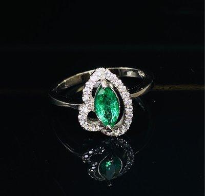 哥倫比亞天然祖母綠925戒指💍 原價12000元