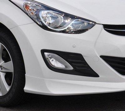 圓夢工廠 Hyundai 現代 Elantra 2012 ~ 2015 前保桿 消光黑 霧燈框 霧燈罩 狂野造型 同原廠