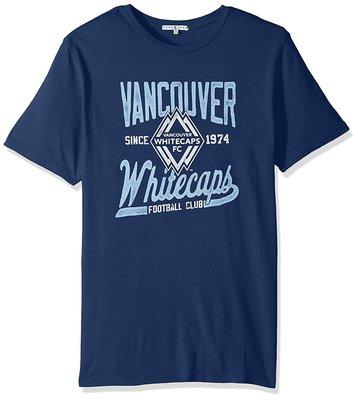 Junk Food 美國職業足球大聯盟 溫哥華 足球隊 短袖T恤 藍色 M(約一般L) 台灣未售 全新