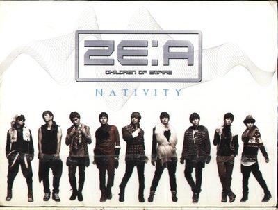 K - ZE:A - NATIVITY - 台版 CD+DVD 李厚 Kevin 光熙 時完 泰憲 熹哲 旼佑 炯植