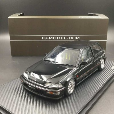 Ignition Model 1/18 Honda Civic EF9 SiR Black Mugen IG1289