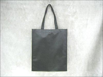 不織布環保購物袋(30*36*9)-BAG-010 素面無印刷(黑色*100只)