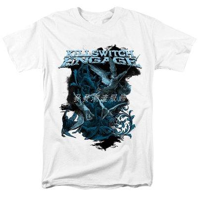 發發潮流服飾新品Killswitch Engage金屬核新浪潮金屬 流行搖滾情緒核白色T恤