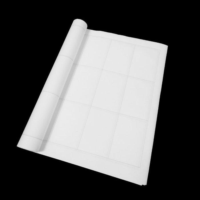 宇陞精品-D003-四尺對開隸書長方格宣紙 ,半礬/半生熟宣紙,34*138cm-20張-7*10cm共50格