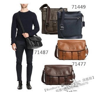 【Woodbury Outlet Coach 旗艦館】COACH 71477 71487 71449 側背男包 美國代購