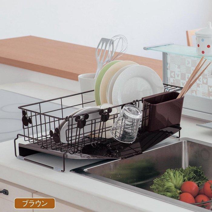 迪士尼DISNEY《預購》米奇 餐具瀝水架 流理台置物架~日本製~共2色~心心小舖