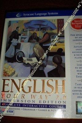 滿3免運~ENGLISH YOUR WAY 2.0 全新雪城美語外語言互動學習+CD光碟+麥克風~英文自修學習工具免競標