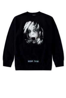 OFF-WHITE SCREAMING GIRL CREWNECK 衛衣 XS OVERSIZE