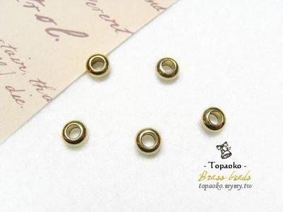 《晶格格的多寶格》串珠材料˙隔珠配件 實心黃銅扁單圈隔珠一份(10P)【F7146】6mm