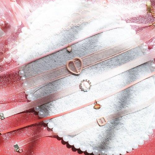 汝果--生活配件屋--【E845】春夏超美氣質蕾絲愛心少女 頸鏈短款 鎖骨鏈 項鏈 項鍊 頸鍊