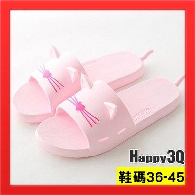 室內拖鞋貓耳朵動物造型拖鞋超柔軟室內鞋浴室拖鞋-粉/藍/灰36-45【AAA4401】