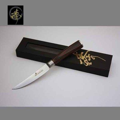 料理刀具 大馬士革鋼系列-120mm水果刀 〔 臻〕高級廚具-DLC828-09