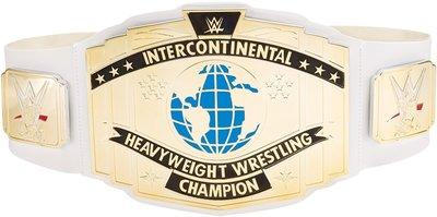 [美國瘋潮]正版WWE Intercontinental Championship Toy Belt 洲際冠軍白色版玩具腰帶特價中