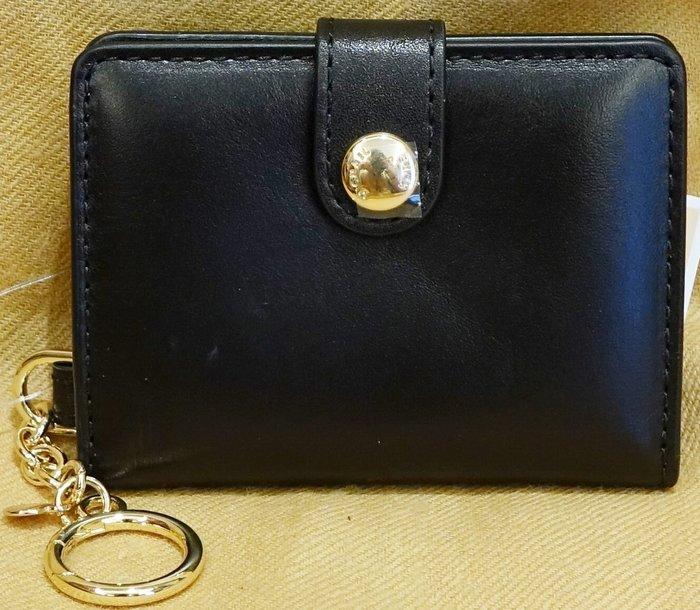 大降價!全新 Michael Kors MK 黑色皮革高質感鑰匙圈吊飾,內有夾層可裝相片等小物!無底價!本商品免運費!