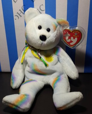 美國Ty豆豆熊~Cheery熊~2001年絕版品~泰迪熊