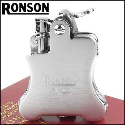 ☆哈洛德小舖☆全新【RONSON】Banjo系列-燃油打火機-緞銀款 NO.R01-0025