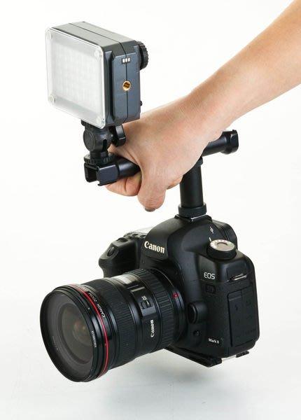 呈現攝影-ROWA 低角度握把支架 通用型 多角度 提把 熱靴轉接座 攝影機 燈光/螢幕/麥克風