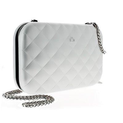 法國原裝進口OGON Quilted Lady Bag RFID安全防盜菱格紋女用包 Silver 銀色