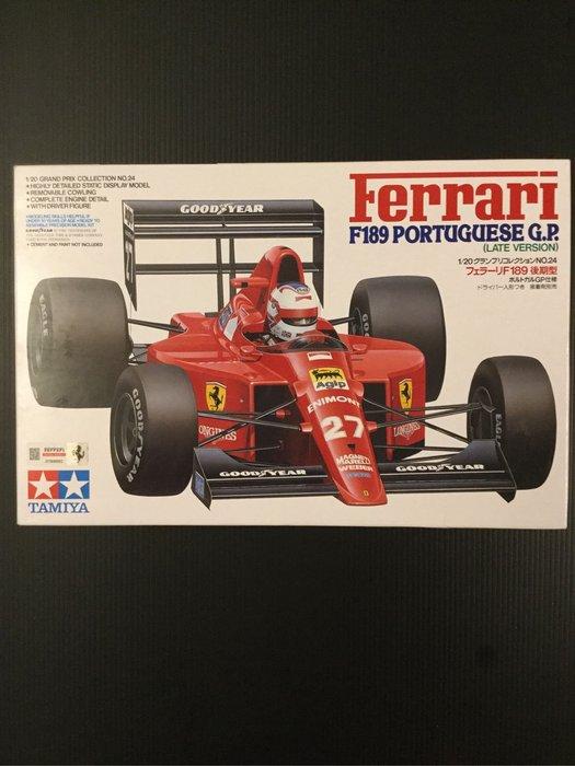COME 玩具 田宮 TAMIYA Ferrari 法拉利 F1 F189 方程式賽車 自組版 (有原廠雷射標籤)
