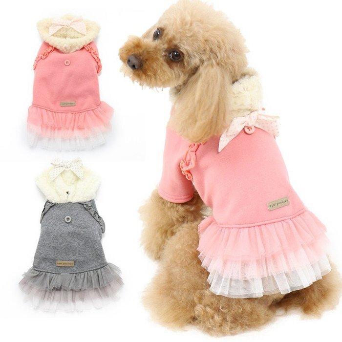 貝果貝果  日本 PetParadise 蝴蝶結連身紗裙 兩色 [D1972]