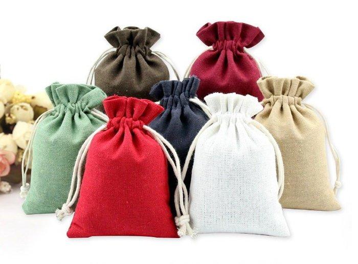 【螢螢傢飾】11*13 束口袋,帆布袋,護身符袋,棉麻布袋, 拉繩袋  萬用收納袋, 手工皂包裝袋 質感麻灰。