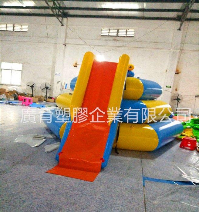 水上 充氣 城堡  台階式 溜滑梯 趣味活動 遊戲屋 闖關遊戲 蹦蹦床 訂做各式水上陸上充氣產品 (廣育充氣塑膠)