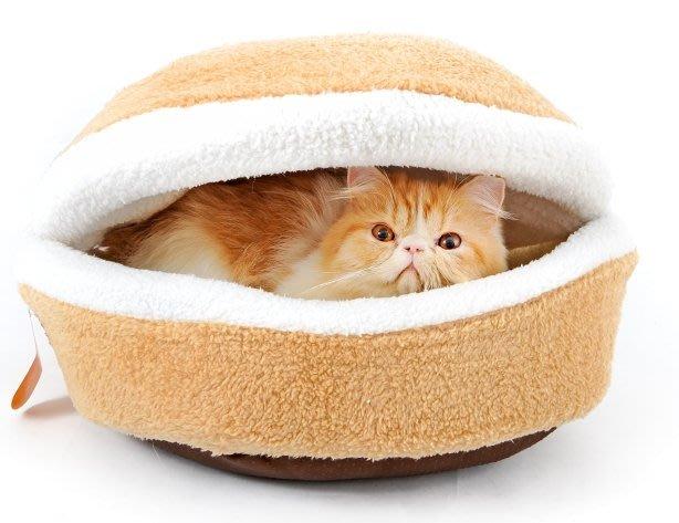 大款 萌系 銅鑼燒造型貓窩 漢堡貓床 狗窩 狗床 漢堡 造型 貓窩 銅鑼燒 可拆 喵星人 交換禮 寵物窩【HH15】