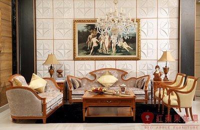 [紅蘋果傢俱] 604 宮廷凡爾賽系列 歐式沙發組 法式沙發 新古典 布/皮沙發 別墅沙發 實體賣場
