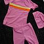 奧可那女童泳裝AQ14309- 粉紅短袖款- 防曬俏麗...