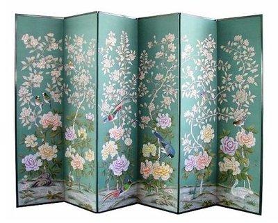 【芮洛蔓 La Romance】東情西韻系列六屏雙面花鳥手繪絹絲屏風 CPF-0215