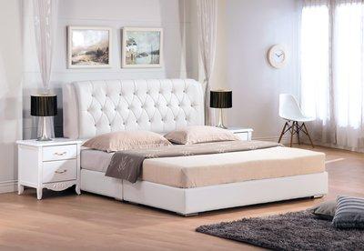 白色5尺 床頭片 床頭箱 床頭櫃 床板 台中新家具批發 000502801 【可現金分期】