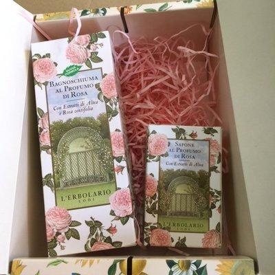 耶誕送禮精選*蕾莉歐玫瑰沐浴乳香皂禮盒組一盒特價 百貨專櫃品 附提袋 禮盒圖案隨機出貨 急件請確認再下標