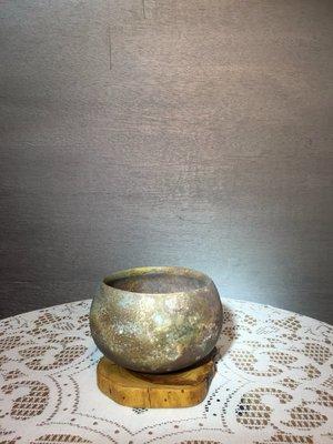 (店鋪不續租清倉大拍賣)簡銘炤先生,柴燒缽形茶碗#247#右,原價32800元特價16800元