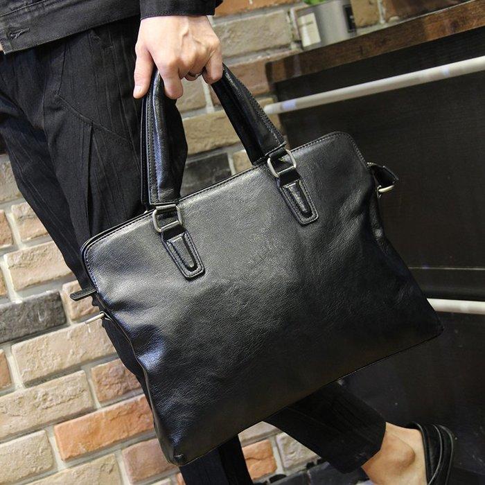 FINDSENSE 韓國男包 G6 男用休閒包 男包 簡單商務休閒 男士手提包包橫款側背包單肩包斜挎包電腦包公事包