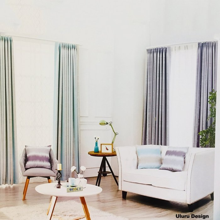 簡約北歐風格 素雅窗簾 傳統褶 (3折) S勾 對開式 145x250cm DIY窗簾 換窗簾 窗簾布 成品窗簾