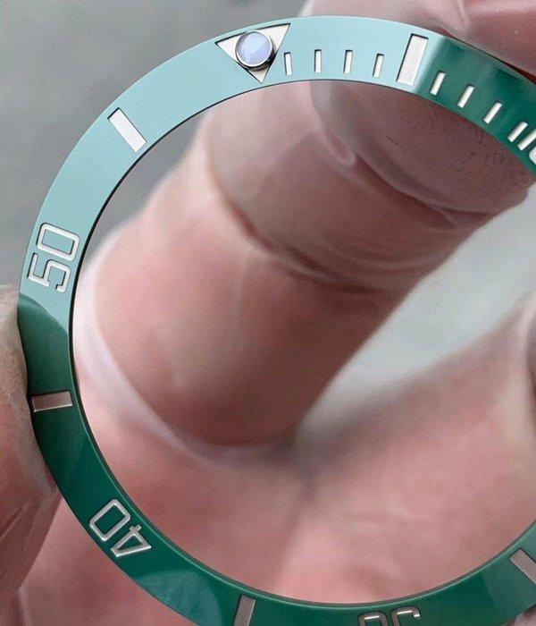 新版代用真品圈 訂製鉑金 深蝕刻度 翠綠陶瓷圈 水鬼 Daytona