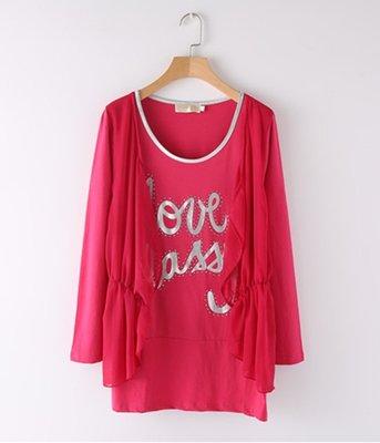 =EF依芙= B710 韓國 首爾時尚精品 東大門同步  韓版 休閒風 假兩件 T恤 連衣裙襯衫 S碼~2XL碼