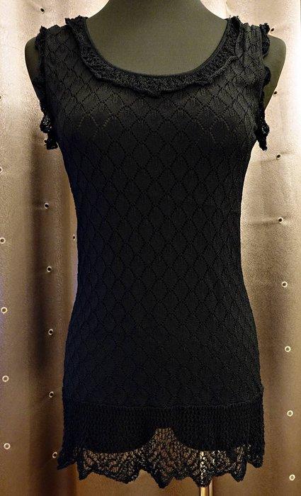 近全新 購於法國 黑色浪漫可愛設計款針織衫針織上衣,非常細緻有型與柔軟!免運費!