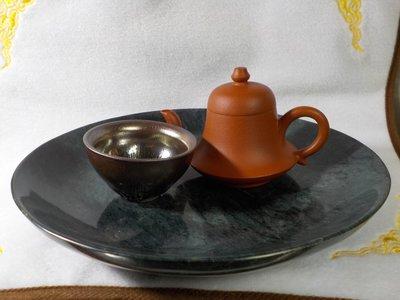 「杜哥藝品」  天然 花蓮墨玉 具有磁性  乾式茶盤/聚寶盆/壺承/置物盤/擺飾  手工制  單一作品  免運費