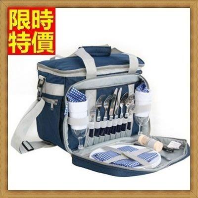 野餐包 2人餐具組 肩背手提包-家庭式外出登山露營手提單肩兼具野餐包 68ag27[獨家進口][米蘭精品]