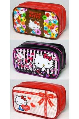 *凱西小舖*日本進口三麗歐正版KITTY凱蒂貓大容量防水萬用收納/化妝包**3選1