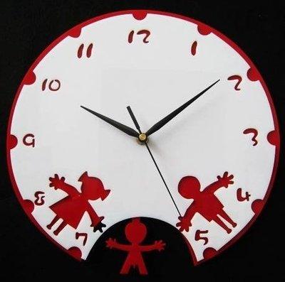 2017~童話世界風格 超靜音藝術掛鐘 時尚創意時鐘錶 童年時光QDSC-16981
