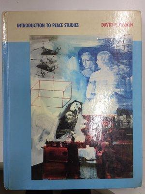 INSTRUCTION TO PEACE STUDIES DAVID P. BARASH