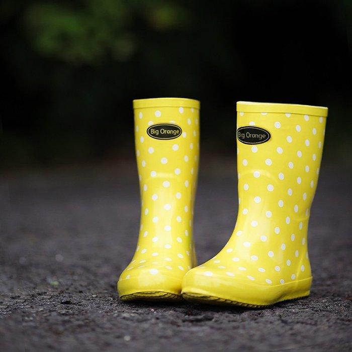 波點點中筒雨鞋【ZOWOO-B0004】日系文青小清新禮物成人雨靴 非日本正韓國連線晴雨傘雨衣小ck一字領貓吐司涼鞋