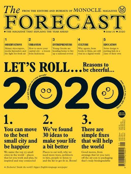 【MONOCLE年度特刊】 THE MONOCLE FORECAST 預測雜志2020 Monocle單片眼鏡雜志2020年特刊預測