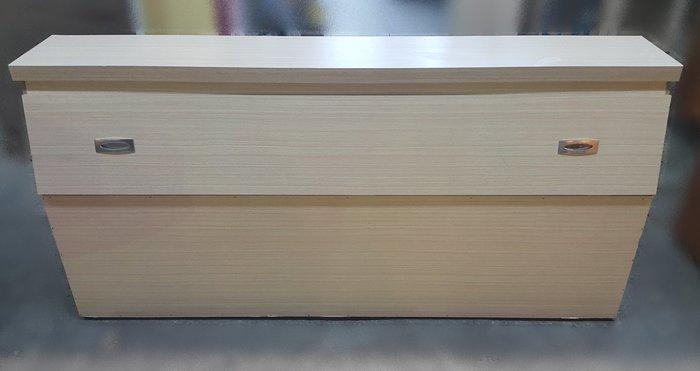 台中樂居二手家具 B918-7 白橡色5尺雙人床頭櫃*五尺床頭櫃 床頭收納櫃 床頭箱 臥室家具拍賣【全新中古傢俱家電】