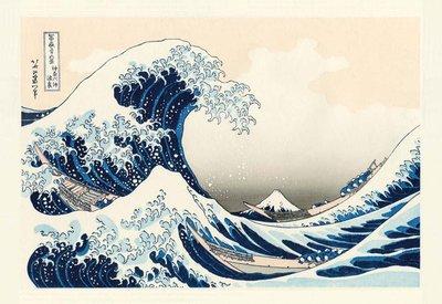 日本進口拼圖 日本浮世繪 葛飾北齋 富嶽三十六景 神奈川沖浪裏 1000片拼圖 1000-078