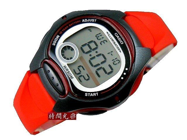 附台灣卡西歐保卡才是公司貨【時間光廊】CASIO 卡西歐 兒童錶/淑女錶 (紅色帶) LW-200-4A